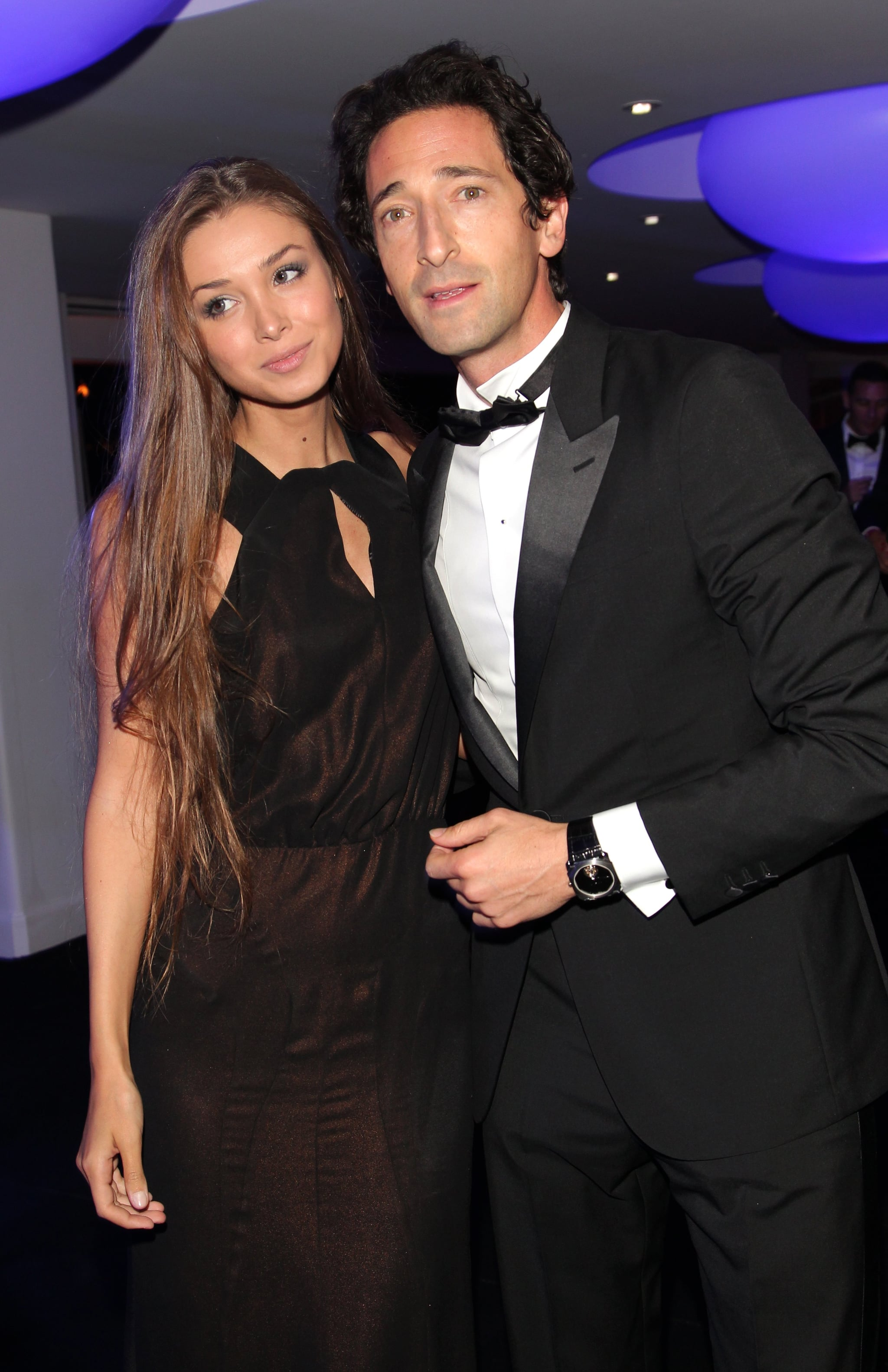 Adrien Brody and his girlfriend, Lara Lieto, posed.
