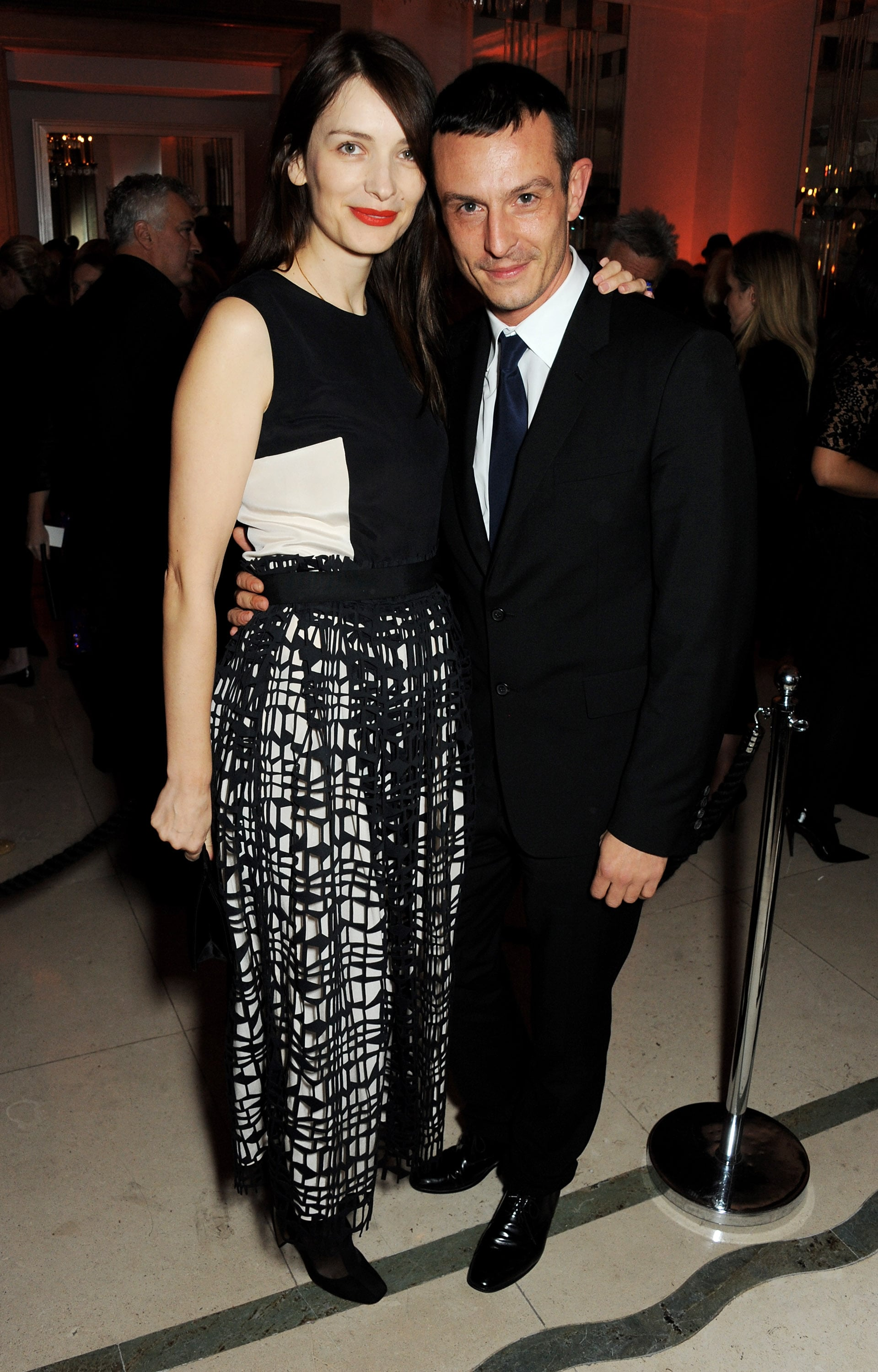 Roksanda Ilincic and Jonathan Saunders came out for the Women of the Year Awards in coordinating black and white.