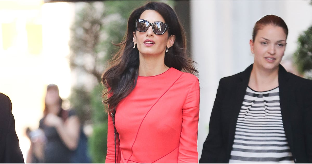 If There's 1 Red Dress You Need For Fall, It's Amal Clooney's