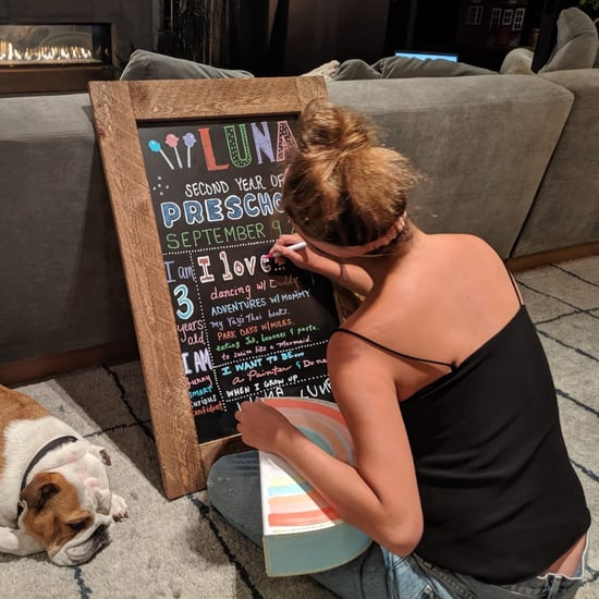 Chrissy Teigen's Chalkboard For Luna's First Day of School