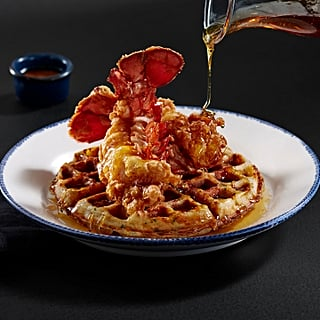 Red Lobster Is Debuting Lobster and Waffles, and Yes, That's a Cheddar Bay Biscuit Waffle!