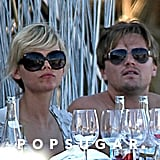 After splitting from Bar Refaeli in August 2009, Leo found the company of a gorgeous blonde in Ibiza.