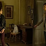Aria's bringin' back the colored jeans.