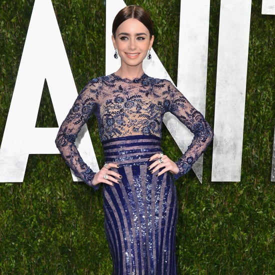 Lily Collins Oscar Party Dress 2013   Pictures