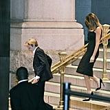Melania Trump Black Dress at Trump Hotel in New York