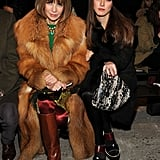Later at Thakoon, Anna traded the coat for a light brown option while wearing the same boots.