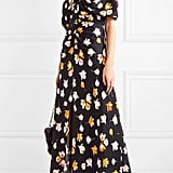 Self-Portrait Floral-Print Satin Maxi Dress