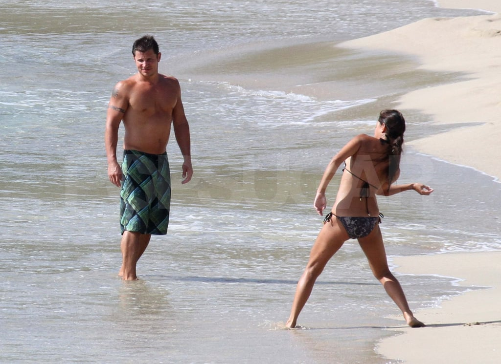 Nick Lachey and Vanessa Minnillo honeymoon.