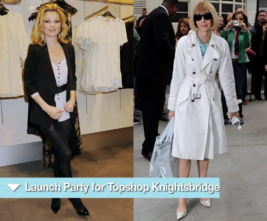 Photos from Topshop Knightsbridge Opening Party with Kate Moss and Anna Wintour