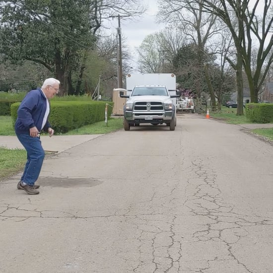 Grandpa Dancing With Granddaughter Across the Street | Video