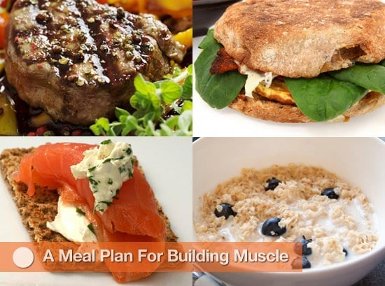 """<a href=""""http://www.fitsugar.com/Food-Good-Building-Muscle-7156685"""">A Meal Plan For Building Muscle</a>"""