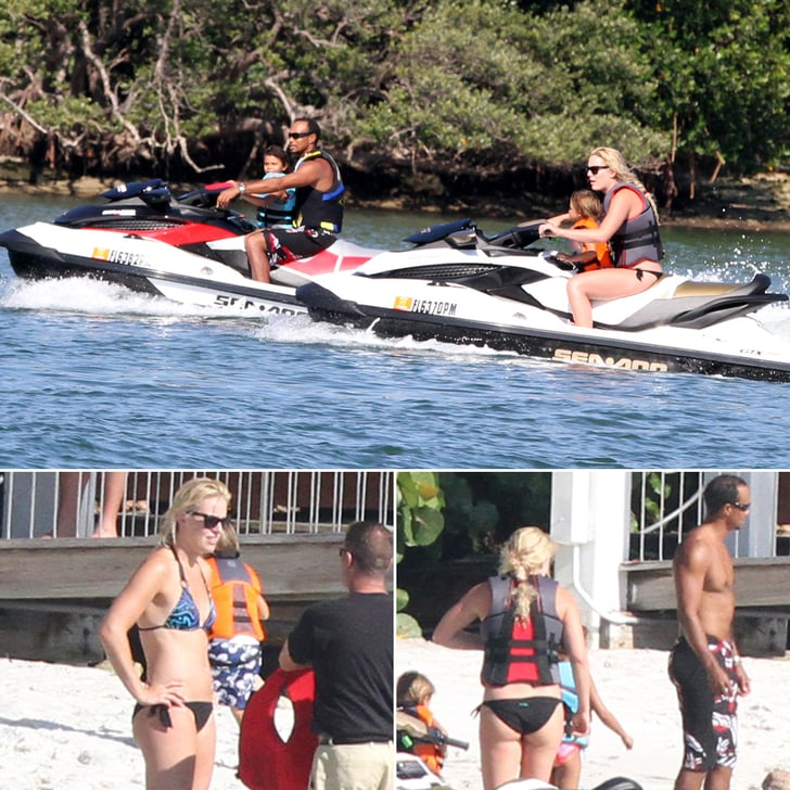 Tiger Woods and Lindsey Vonn Hit the Water With His Kids