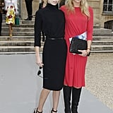Chic sister duo Alexandra and Theodora Richards showed off their versions of Parisian chic at Christian Dior.