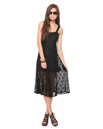 We love the idea of wearing this lace maxi day to night with just a simple change of jewelry.   Forever 21 Lace Maxi Dress ($28)