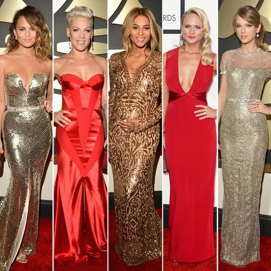 Abstimmung über das schönste Kleid von den Grammy Awards