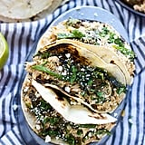 Poblano and Honey Lime Chicken Tacos
