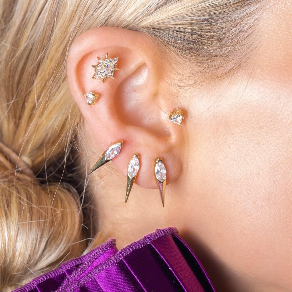 Melinda Maria Ariana Single Spike Earring