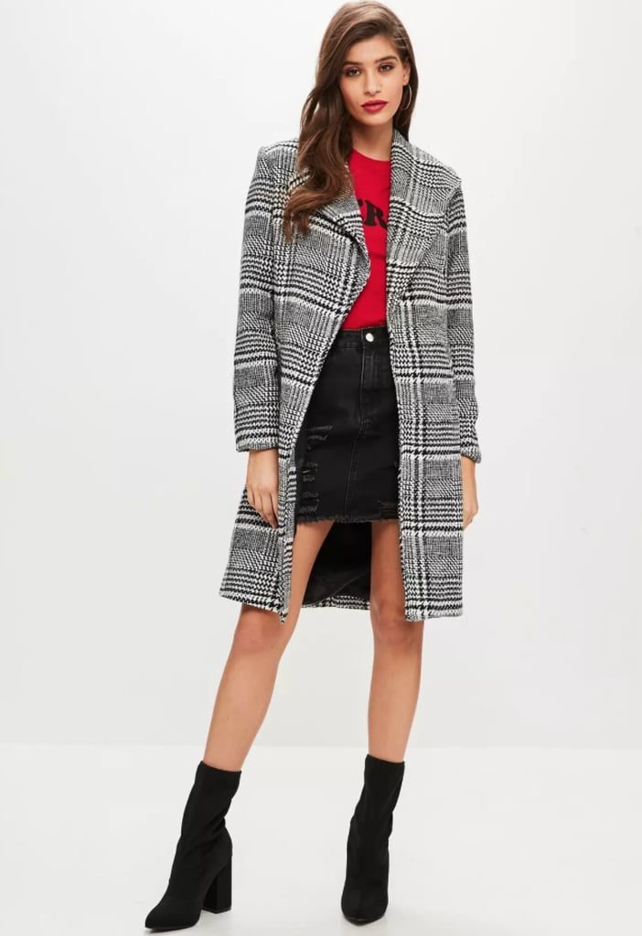 Missguided Checked Coat