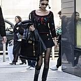Bella Hadid's Street Style at Milan Fashion Week