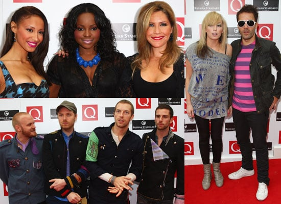 Full List Of Winners and Photos From 2008 Q Awards Featuring Sugababes, The Ting Tings, Coldplay, Meat Loaf,