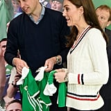 Prince William and Kate Middleton Receive Jerseys in Belfast