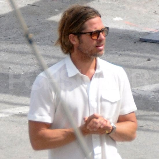 Brad Pitt Pictures Scouting Locations in Malta