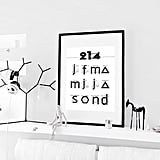Black and White Typography 2014 Calendar