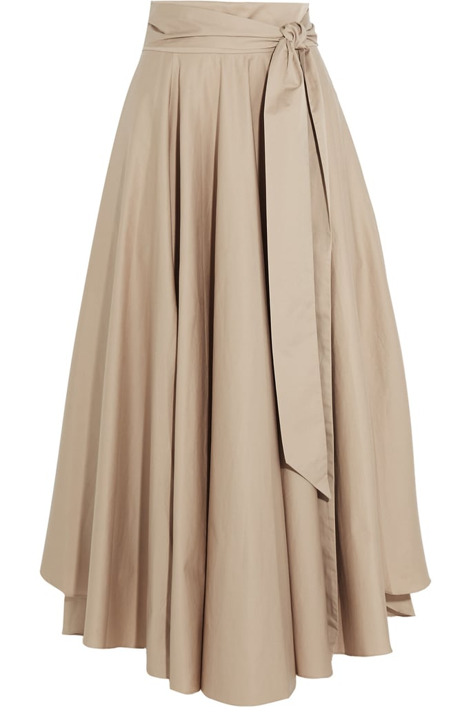 Tibi Obi Cotton-crepe Maxi Skirt ($425)