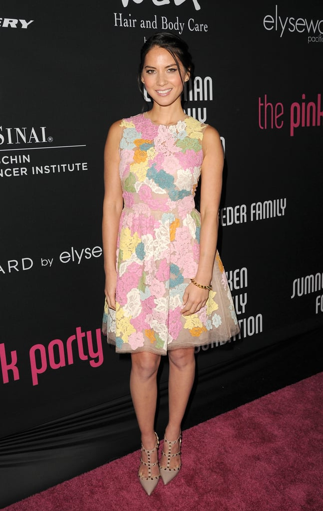 Olivia Munn brought a sweet, pastel-hued Valentino dress to the Pink Party.