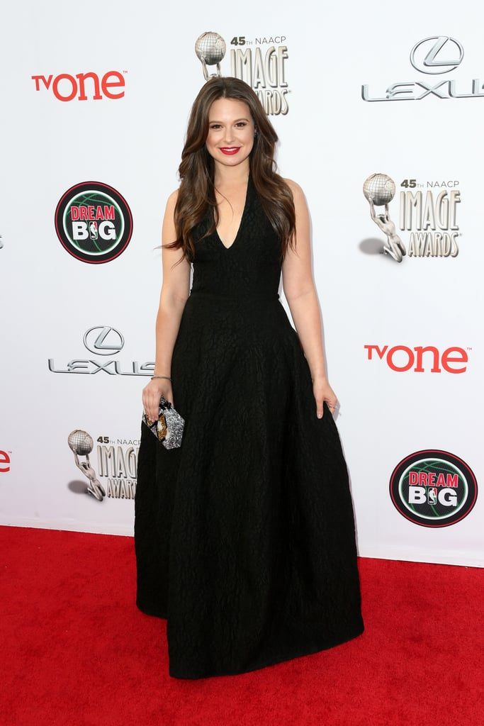Katie Lowes walked the red carpet before Scandal won the outstanding drama series award.