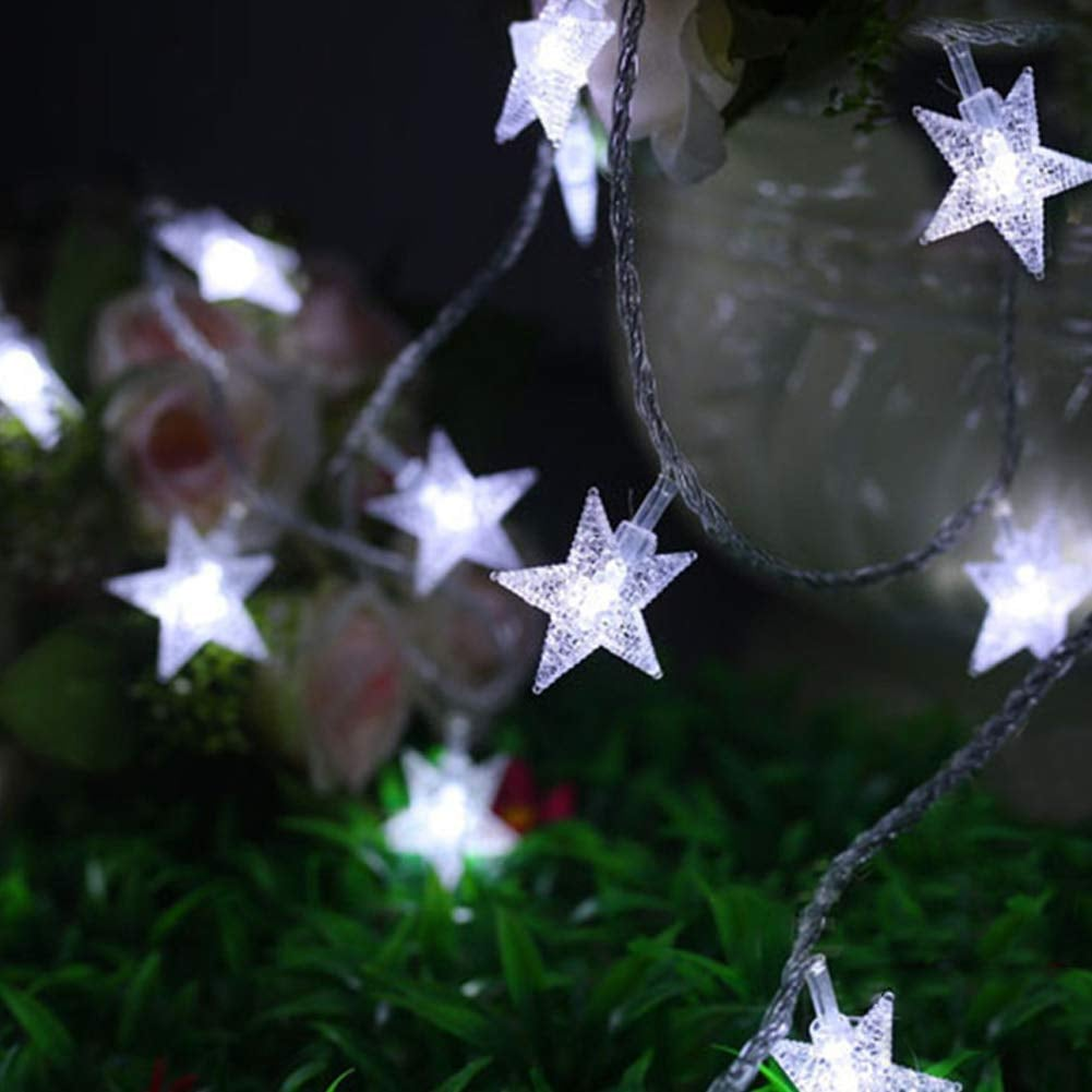 LED Twinkle Star String Lights