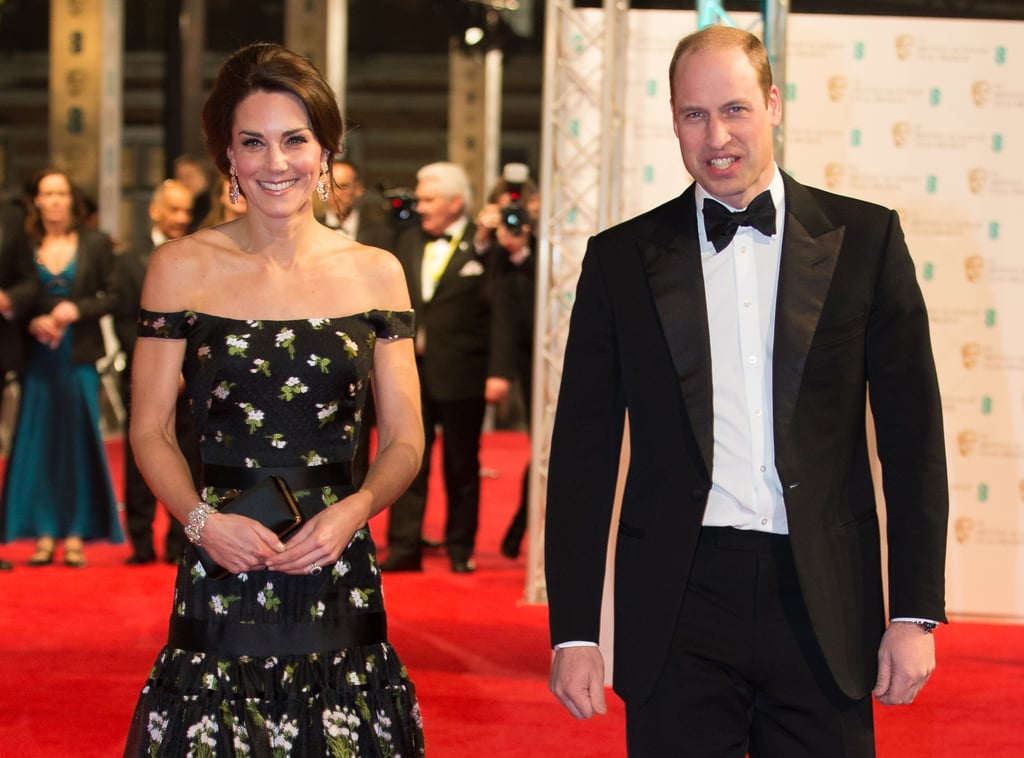 Members of the British royal family are no strangers to getting glammed up, meeting fans, and having flashbulbs go off in their faces — but it's a whole different ballgame when they leave the comfort of the palace and step out at a red carpet event. Most recently, Prince William and Prince Harry celebrated their Star Wars: The Last Jedi cameos by attending the film's London premiere and mingling with BB-8. Will has also walked a couple of red carpets with his wife, the Duchess of Cambridge, and before that, his late mother Princess Diana also showed up at her fair share of high-profile parties. Keep reading to see all the times the royals have had Hollywood moments.       Related:                                                                                                           What Are the Royals Up to in 2018? Take a Peek at Their Busy Calendars