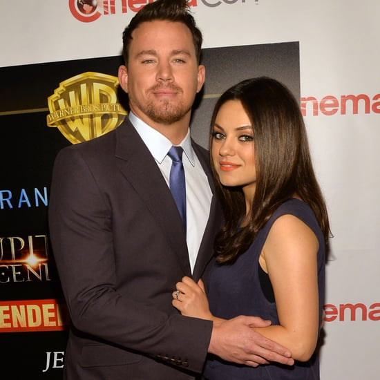 Mila Kunis Baby Bump Pictures at 2014 CinemaCon