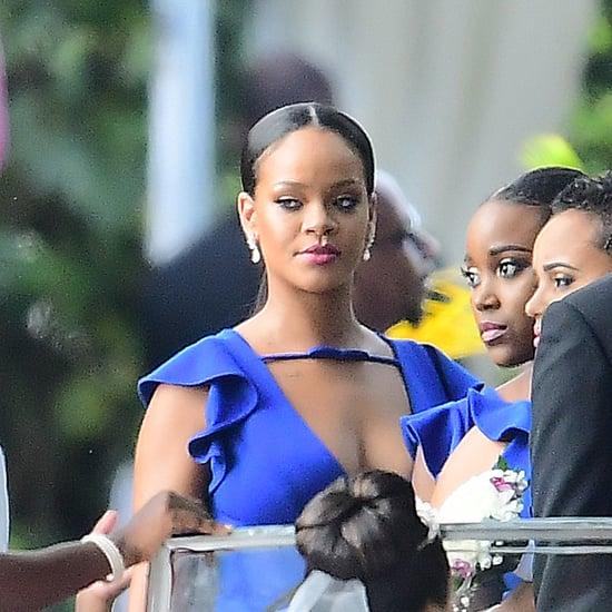 Rihanna Blue Bridesmaid Dress 2018