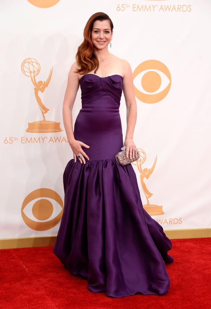 Alyson Hanigan attended the 2013 Emmy Awards.