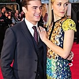 Taylor Schilling cozied up to Zac Efron at the premiere of The Lucky One in London.