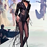 Jourdan Dunn on the Jean-Paul Gaultier Runway