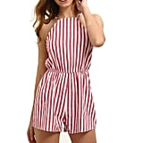 Sunward Striped Romper