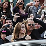 Angelina Jolie and Brad Pitt at London World War Z Premiere