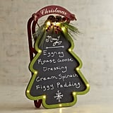 LED Light-Up Christmas Tree Menu Board ($50)