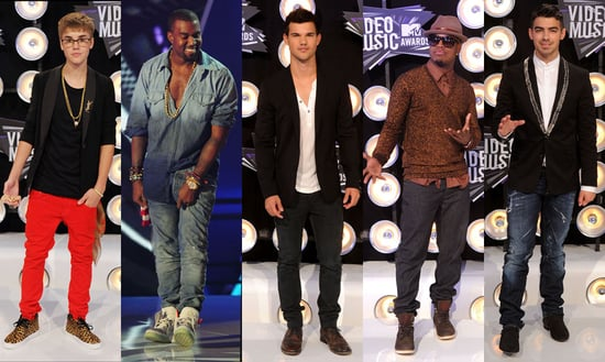 Best Dressed Male Celebrities at the 2011 VMAs: Kanye West, Joe Jonas, Justin Bieber, Ne-Yo or Taylor Lautner?