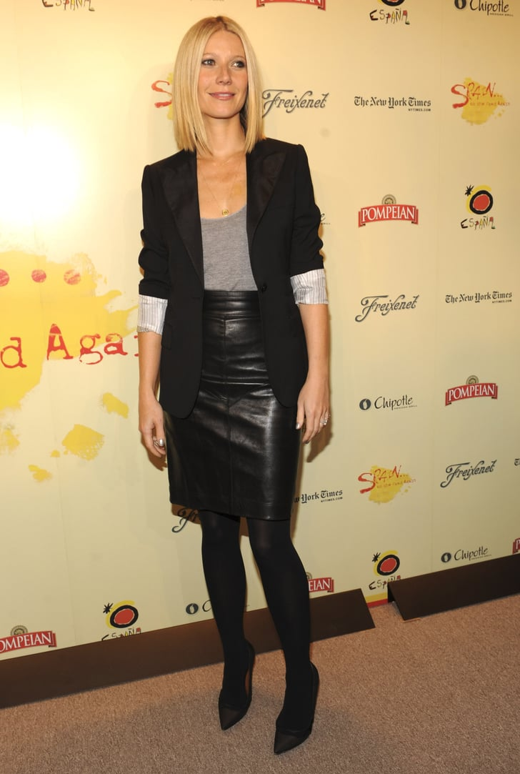 Gwyneth Paltrow | Celebrities in Leather Skirts