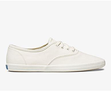 Vintage White Champion Canvas Sneakers