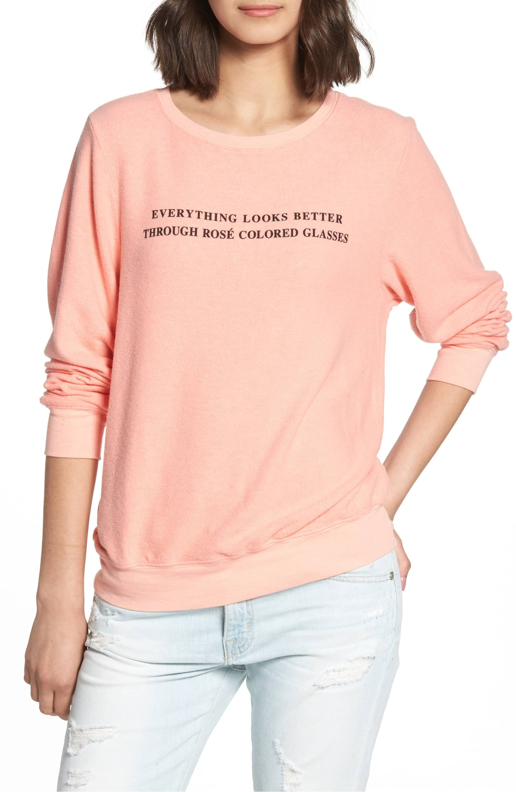 Wildfox Christmas Sweatshirt.Wildfox Rose Glasses Beach Sweatshirt 18 Funny Wine Gifts