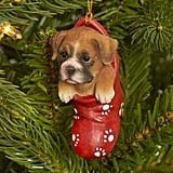 Ceramic Boxer Ornament