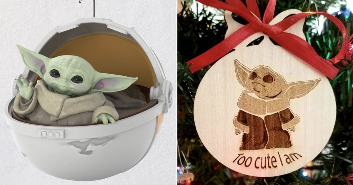We Almost Can't Handle the Cuteness of These 13 Baby Yoda Christmas Ornaments