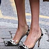 Meghan's Cow Print Gianvito Rossi Pumps