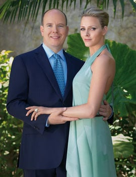 Pictures of Prince Albert of Monaco and His Fiancee Charlene Wittstock With Engagement Ring