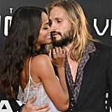 Zoe Saldana and Marco Perego at the Star Trek Movie Premiere