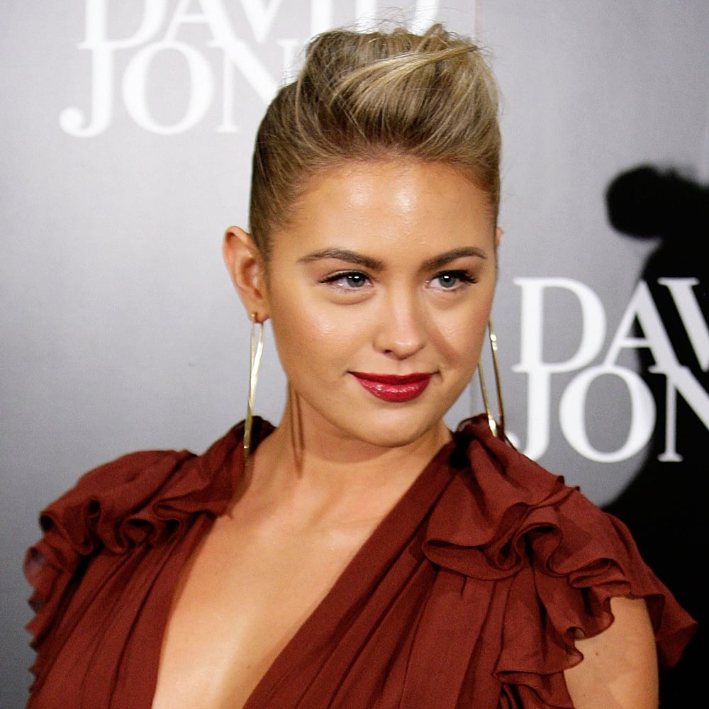 Jesinta rocked mulberry lips in May 2013 year alongside a cool up 'do.